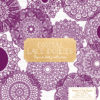 Plum Lace Doily Vector Clipart