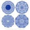 Royal Blue Lace Doily Vector Clipart