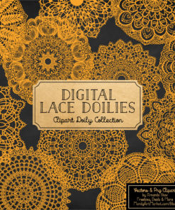 Sunshine Lace Doily Vector Clipart