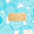 Tropical Blue Lace Doily Vector Clipart