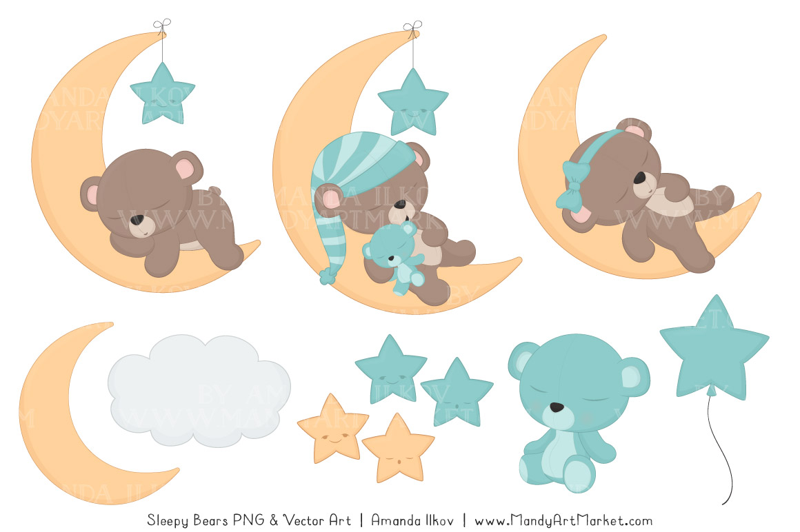 Sleeping Bears Clipart 3