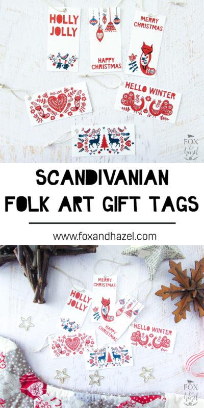 Free Printable Scandinavian Gift Tags