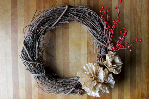 Easy Twig Wreath