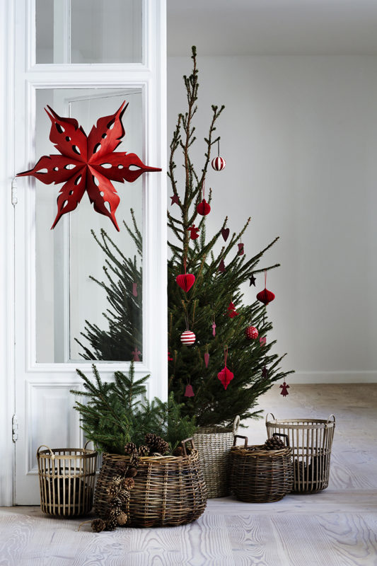 Scandinavian Christmas Tree Baskets