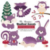 Amethyst Woodland Animals Clipart