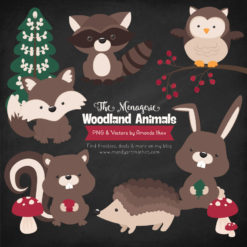 Brown Woodland Animals Clipart