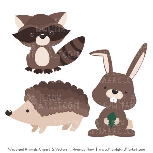 Brown Woodland Animals Clipart