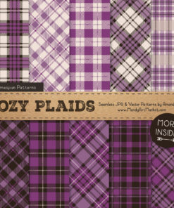 Amethyst Cozy Plaid Patterns