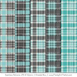 Aqua & Pewter Cozy Plaid Patterns