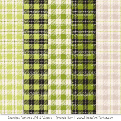 Bamboo Cozy Plaid Patterns