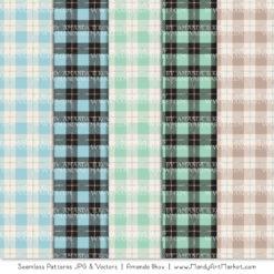 Blue & Mint Cozy Plaid Patterns