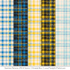 Blue & Yellow Cozy Plaid Patterns