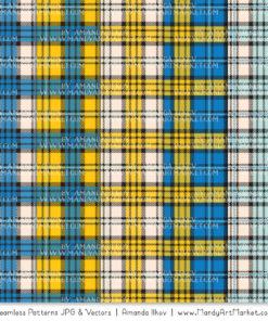 Blue & Yellow Cozy Plaid Patterns