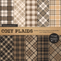 Champagne Cozy Plaid Patterns