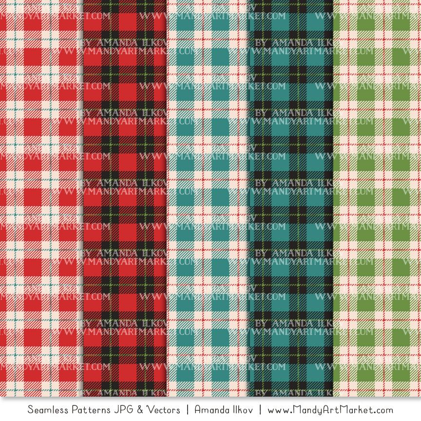 Cherry Bomb Cozy Plaid Patterns
