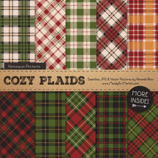 Christmas Cozy Plaid Patterns