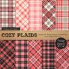 Coral Cozy Plaid Patterns