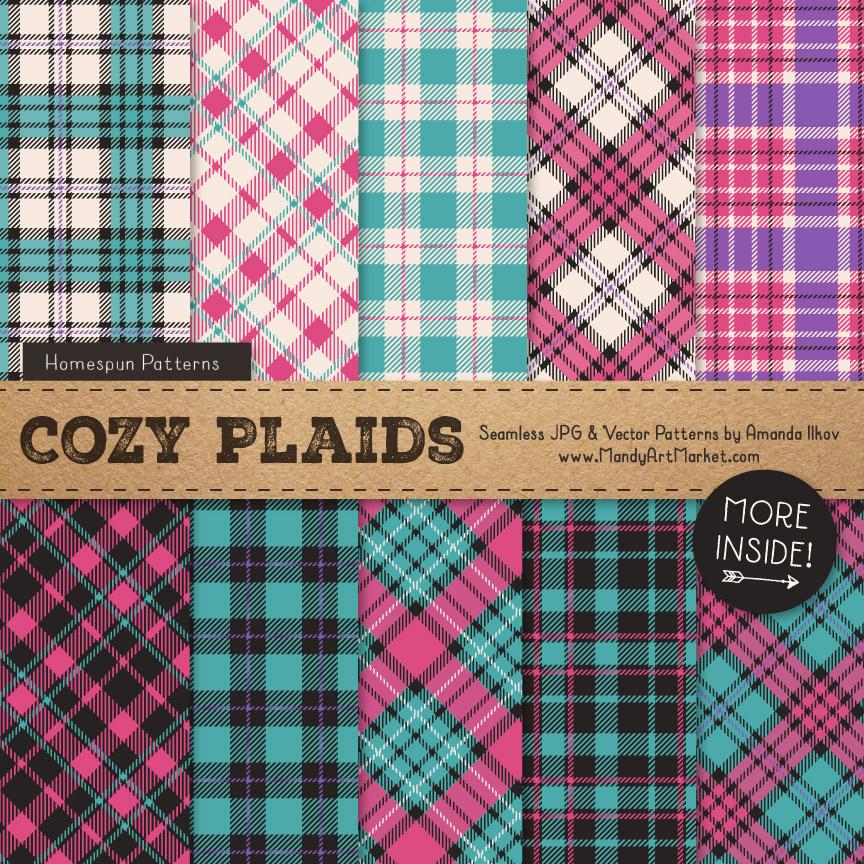 Crayon Box Girl Cozy Plaid Patterns