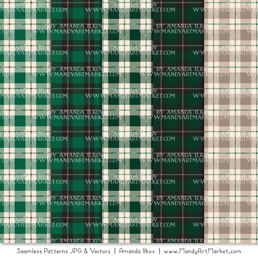Emerald Cozy Plaid Patterns