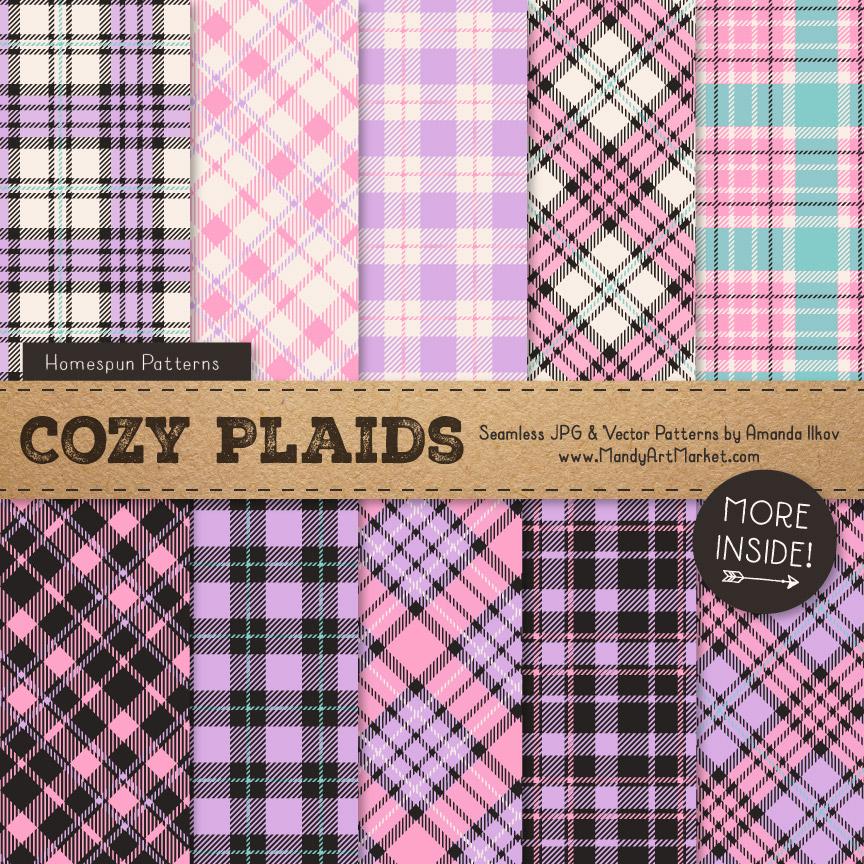 Fresh Girl Cozy Plaid Patterns