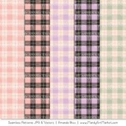 Grandmas Garden Girl Cozy Plaid Patterns