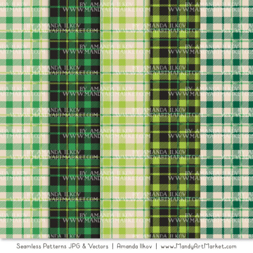 Green Cozy Plaid Patterns