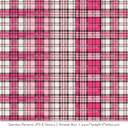 Hot Pink Cozy Plaid Patterns