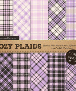 Lavender Cozy Plaid Patterns