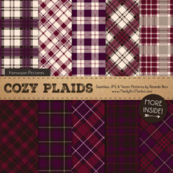 Merlot Cozy Plaid Patterns