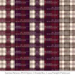 Merlot Cozy Plaid Patterns