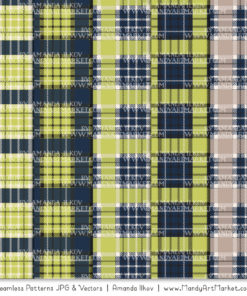 Navy & Bamboo Cozy Plaid Patterns