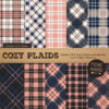 Navy & Blush Cozy Plaid Patterns