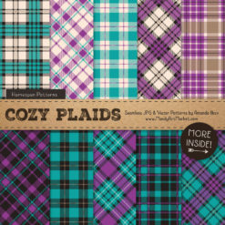 Peacock Cozy Plaid Patterns