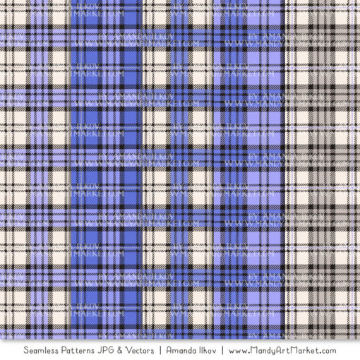 Periwinkle Cozy Plaid Patterns