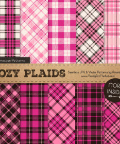 Pink Cozy Plaid Patterns