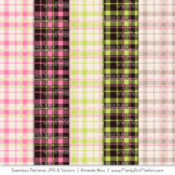 Pink & Green Cozy Plaid Patterns