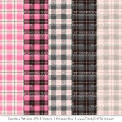 Pink & Pewter Cozy Plaid Patterns