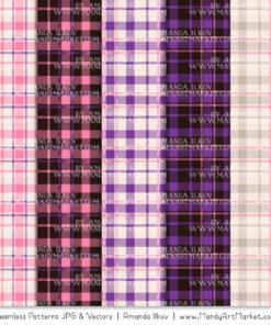 Pink & Purple Cozy Plaid Patterns