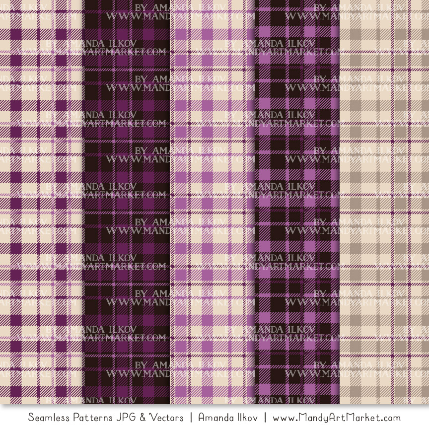 Plum Cozy Plaid Patterns