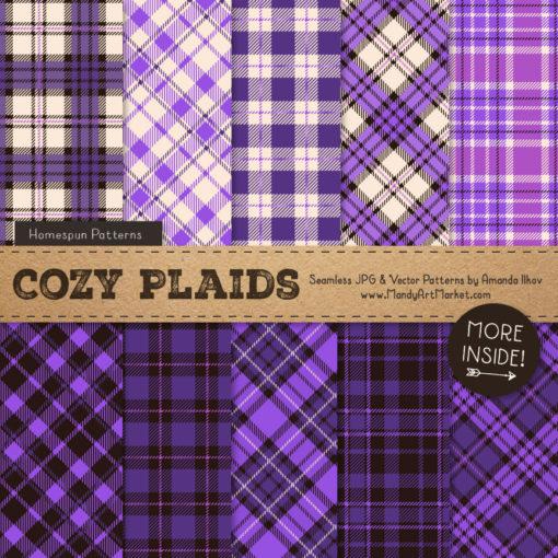 Purple Cozy Plaid Patterns