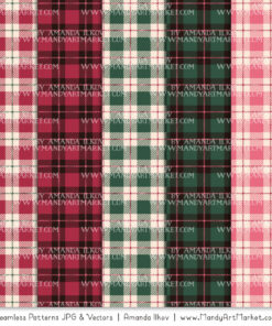 Rose Garden Cozy Plaid Patterns