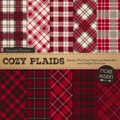 Ruby Cozy Plaid Patterns