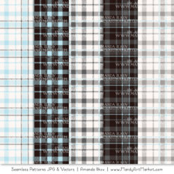 Soft Blue & Pewter Cozy Plaid Patterns