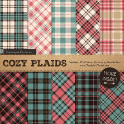 Soft Christmas Cozy Plaid Patterns