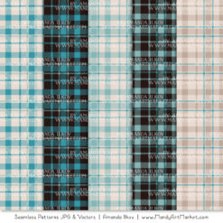 Vintage Blue Cozy Plaid Patterns