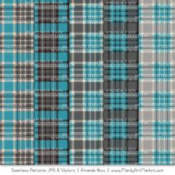 Vintage Blue & Pewter Cozy Plaid Patterns