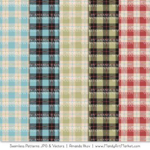 Vintage Boy Cozy Plaid Patterns