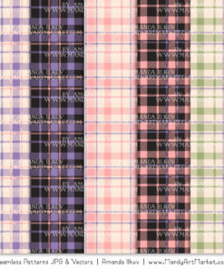 Wildflowers Cozy Plaid Patterns