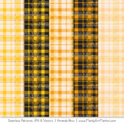 Yellow Cozy Plaid Patterns
