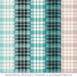 Aqua Cozy Plaid Patterns